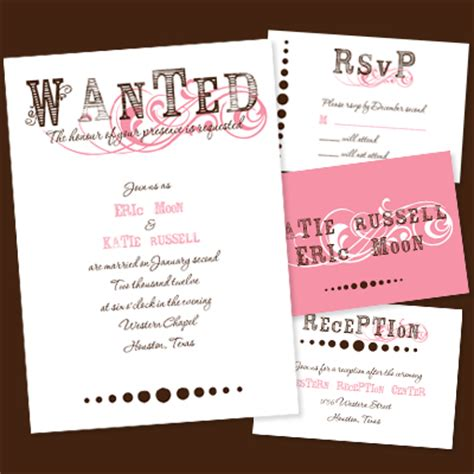 western wedding invitation wording 2 - Wording For Western Wedding Invitations