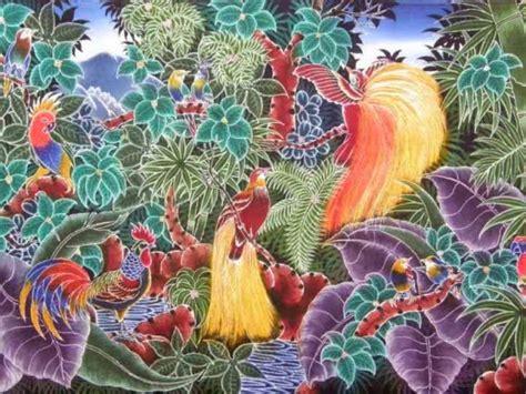 Batik Painting Abstrak Warna contoh gambar batik lukis