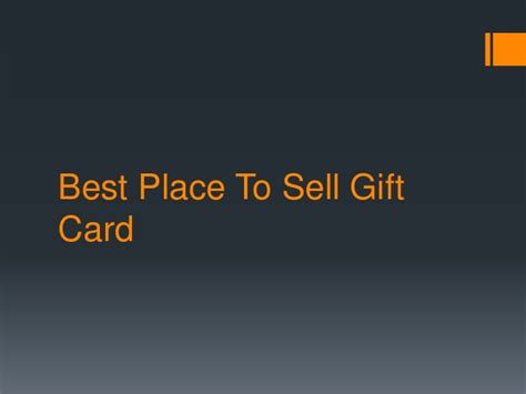 Best Websites To Sell Gift Cards - best place to sell gift card