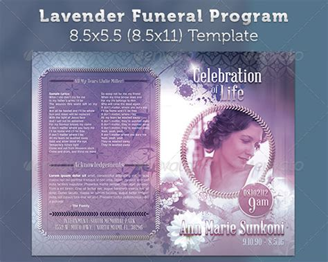 Funeral Program Template 30 Download Free Documents In Pdf Word Psd Excel Funeral Program Template Docs