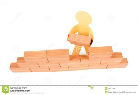 building a wall building a wall stock images image 23277284