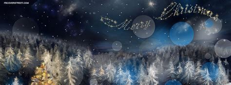 merry christmas winter forest painting facebook cover fbcoverstreetcom