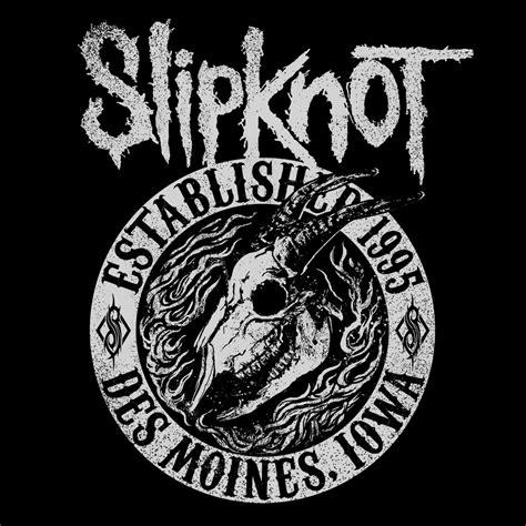 Hoodie Zipper Slipknot Logo With Back Print Hitam Xxxv Cloth planet rock goat flames womens black slipknot