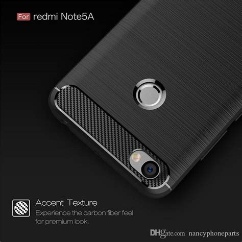 Soft Xiaomi Redmi Note 5a Pro Prime Carbon Fibre Brushed Softshel for xiaomi redmi note 5a pro prime soft back cover