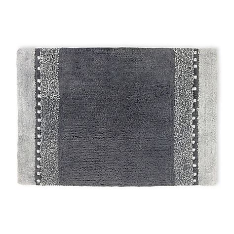 gray bathroom rugs twilight cotton bath rug in grey bed bath beyond