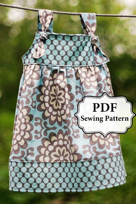 pattern for apron made from dress shirt pdf apron knot dress sewing pattern sizes 3 month girls 8