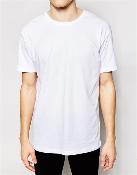 lyst another influence line pocket t shirt in lyst another influence longline plain t shirt in white