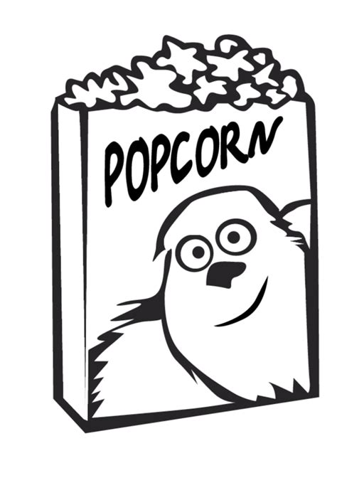 free coloring pages of popcorn kernel