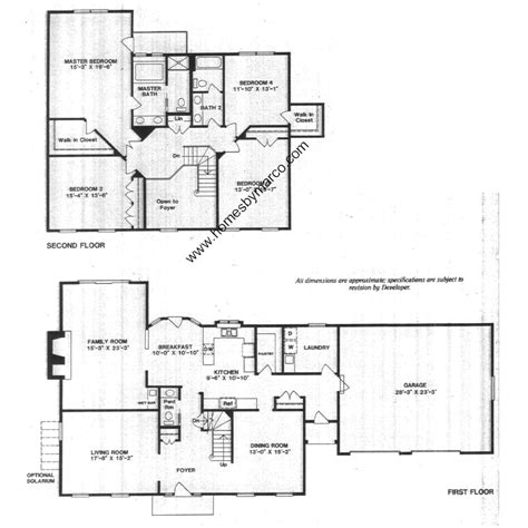 huntington floor plan huntington model in the huntington lakes subdivision in