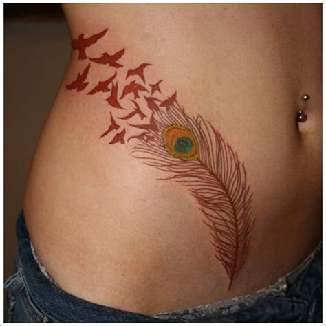 feather into birds tattoo 40 amazing feather tattoos you need on your