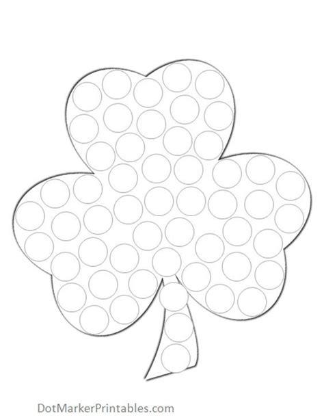 free printable dot to dot shamrock st patrick s day shamrock do a dot printables for