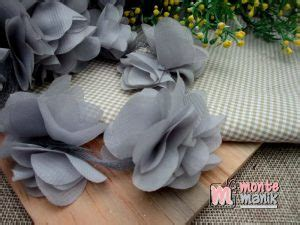 Aplikasi Mawar Satin 4cm aplikasi bunga frill abu abu apb 040 montemanik