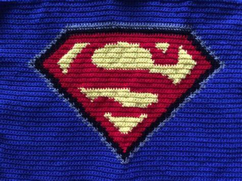 pattern superman logo crochet superman blanket pattern only etsy blankets and