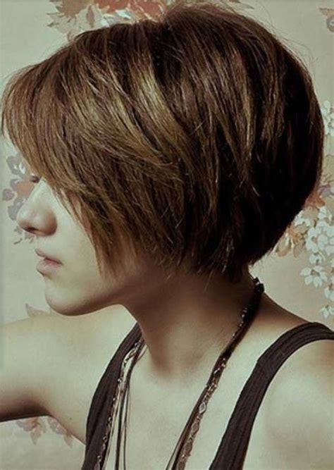 bob haircuts thick hair short layered haircut neckline black hairstyle and haircuts