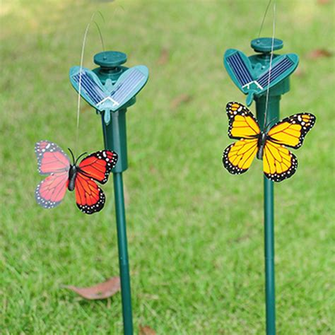 Solar Flying Butterfly Simulation B2 2pcs lifelike solar dual rotation simulation butterfly garden ornaments insects model for