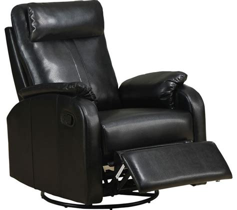 black fabric recliner chair recliner swivel rocker black bonded leather fabric
