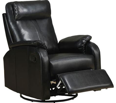 leather swivel rocker chair recliner swivel rocker black bonded leather fabric
