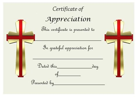 religious certificate of appreciation template 50 professional free certificate of appreciation