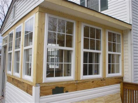 convert  porch   sunroom
