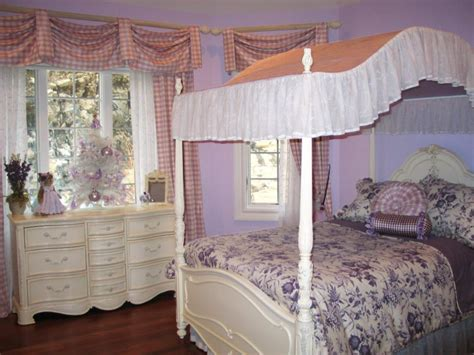 lavender and white bedroom decorating with toile hgtv
