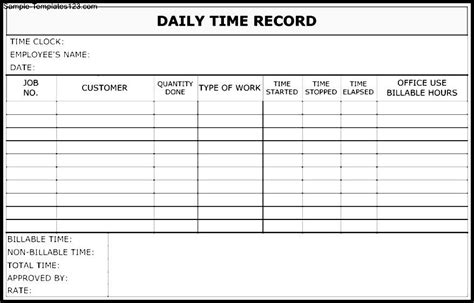 Justification Letter For Daily Time Record Employee Record Form Sle Employee Record Form 8 Exles In Word Pdf Employee Release