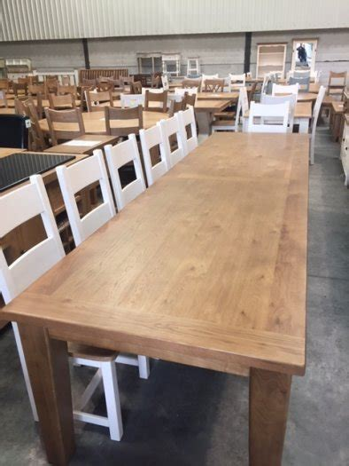 Large Dining Table Seats 14 Large 14 Seat Oak Dining Table For Sale In Ballyboughal Dublin From Ffclearance
