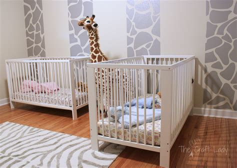 twins room phase 1 giraffe striped feature wall the