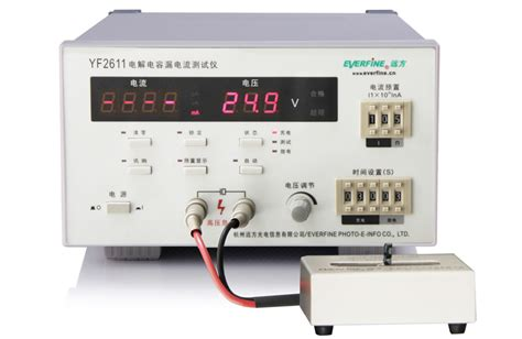 capacitor leakage tester circuit yf2611 electrolytic capacitor leakage current tester everfine corporation products