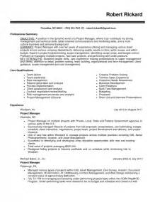 project management skills resume sle sles of resumes
