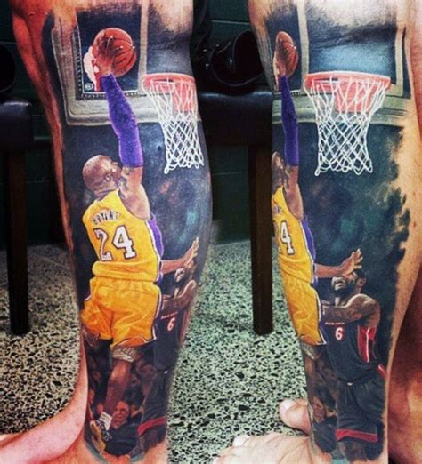 laker tattoo designs 40 basketball tattoos for masculine design ideas