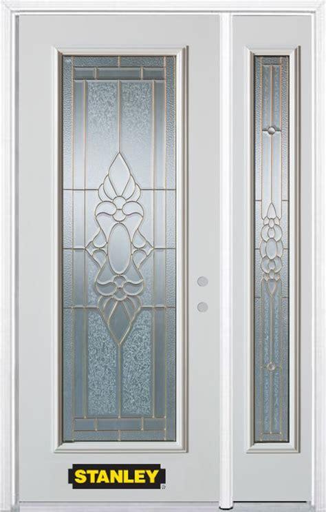 Stanley Doors 52 In X 82 In Full Lite Pre Finished White Stanley Exterior Doors