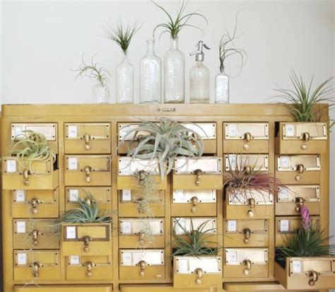 how to make a card catalog cabinet card catalog cabinet now used as a planter neatorama