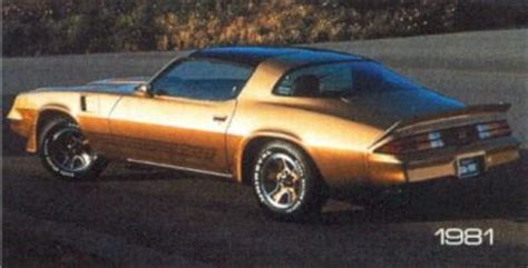famous muscle car: chevrolet camaro (1970 1981)