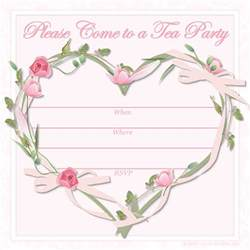 free printable invitations free printable pink tea invitations
