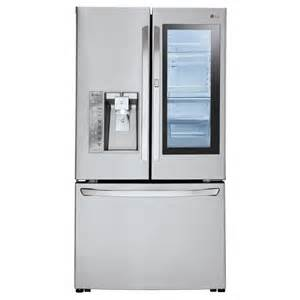 shop lg instaview 23 5 cu ft counter depth door
