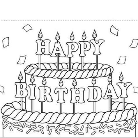 Print Out Coloring Birthday Cards Print This Birthday Happy Birthday Card Printable Coloring Pages