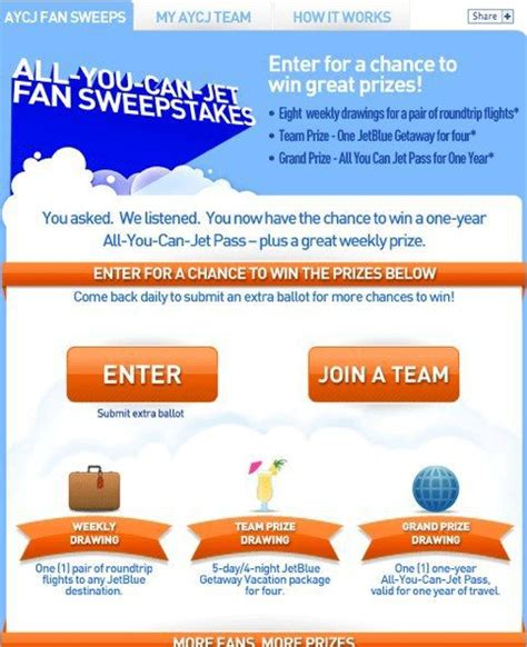 Jetblue Facebook Giveaway - become jetblue s facebook fan win free travel for a year