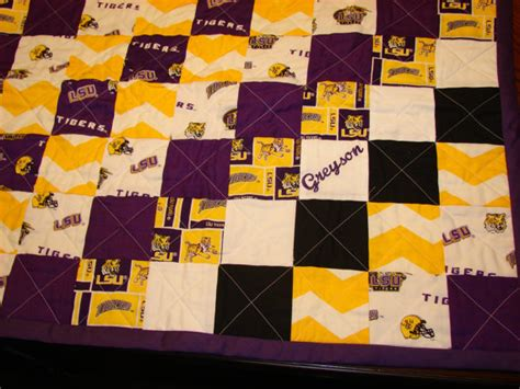 Lsu Quilt by Lsu Fans Wrap Your Baby In This Purple And Gold Baby Quilt To