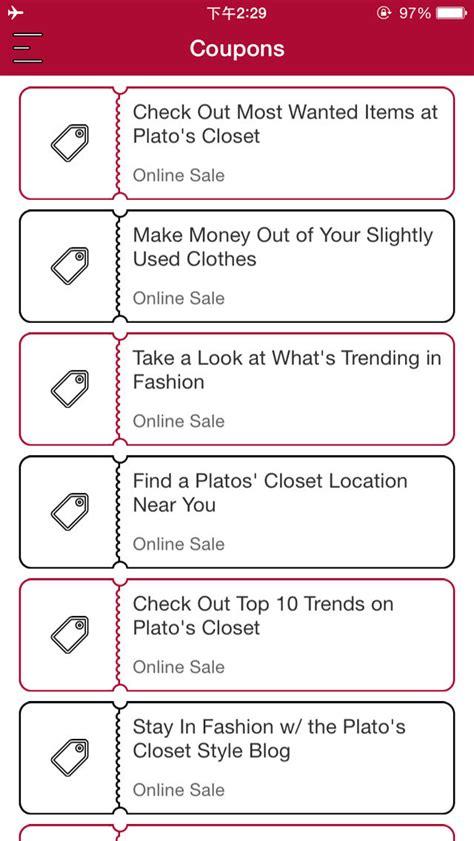 Plato Closet Coupon by App Shopper Coupons For Plato S Closet Shopping