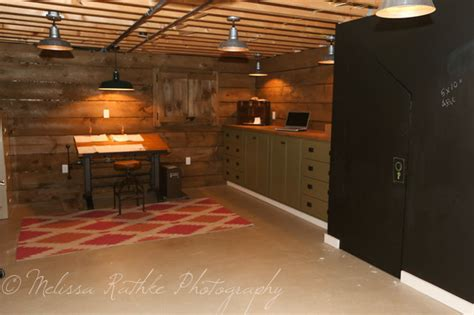 basement office remodel basement renovation industrial home office new york
