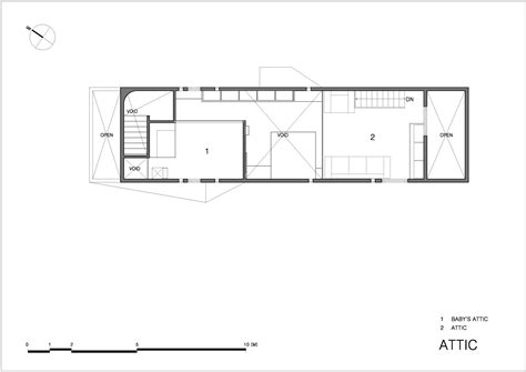 house with attic floor plan gallery of vi sang house moon hoon 33