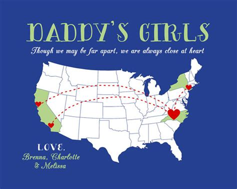 gift for dad to father from daughters you customize print