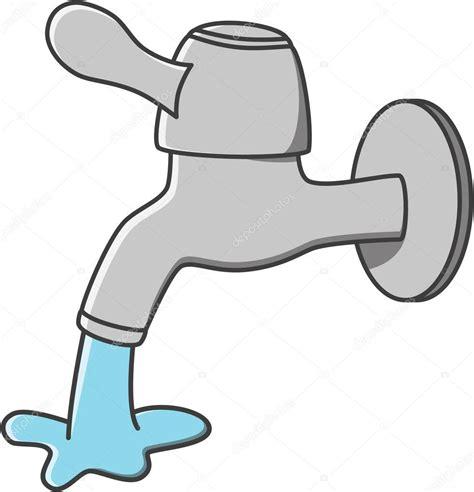 disegno rubinetto rubinetto acqua fumetto di vettore vettoriali stock
