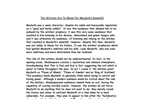 Macbeth Conclusion Essay by Essay Introduction Macbeth