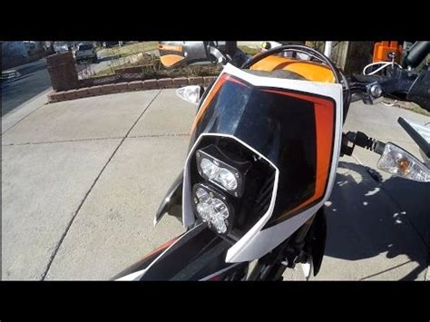 Ktm Led Headlight Conversion Ktm 690r Enduro Led Headl Kit Install Motominded