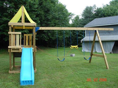 swinging picnic table swing n slide