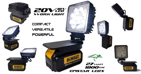 dewalt 20v led light dewalt adapt work light 18v or 20v max compact powerful