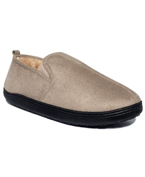 macy slippers club room s slippers paul suede slip on loafers