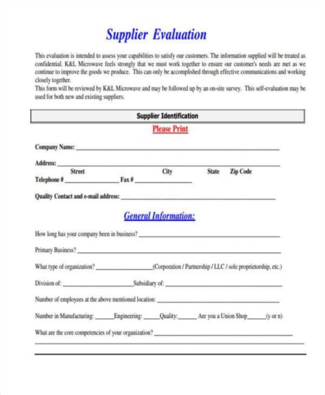 Forklift Resume Examples by Supplier Evaluation Form Best Resumes