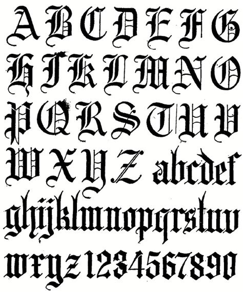 printable old english fonts 6 best images of new calligraphy fonts alphabet printable